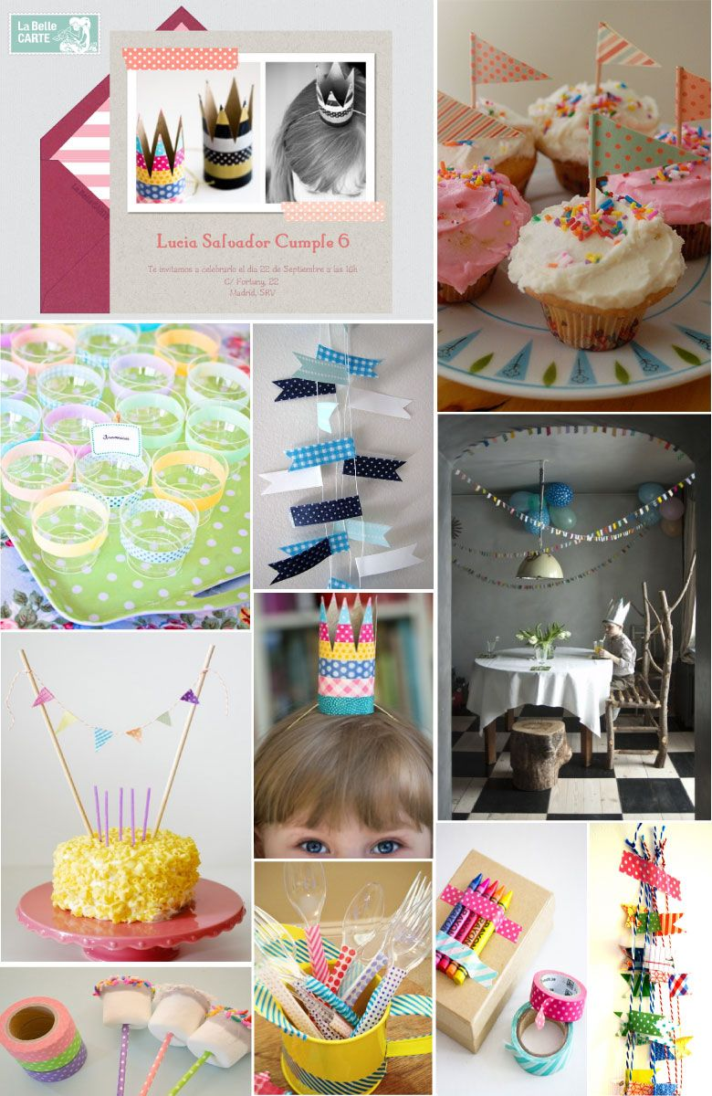 botanitas para fiestas de nios invitaciones infantiles e ideas para decorar un cumpleaos con washi
