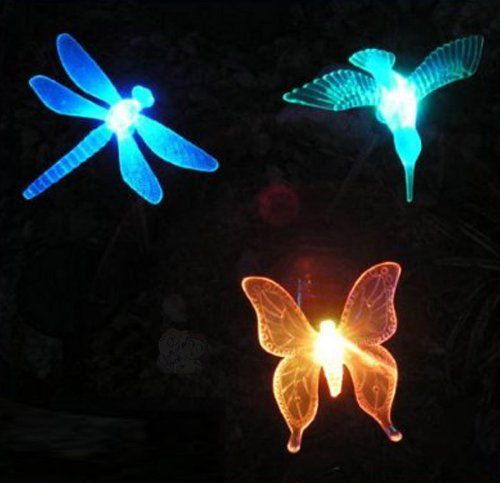 decorative solar lighting. #outdoor #lighting 3 Piece Decorative Solar Light Set (Hummingbird,  Butterfly \u0026 Dragonfly Decorative Solar Lighting