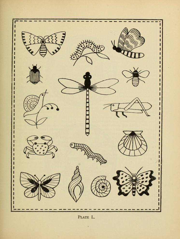 An Embroidery Pattern Book From 1917 That You Can Read Online Diy