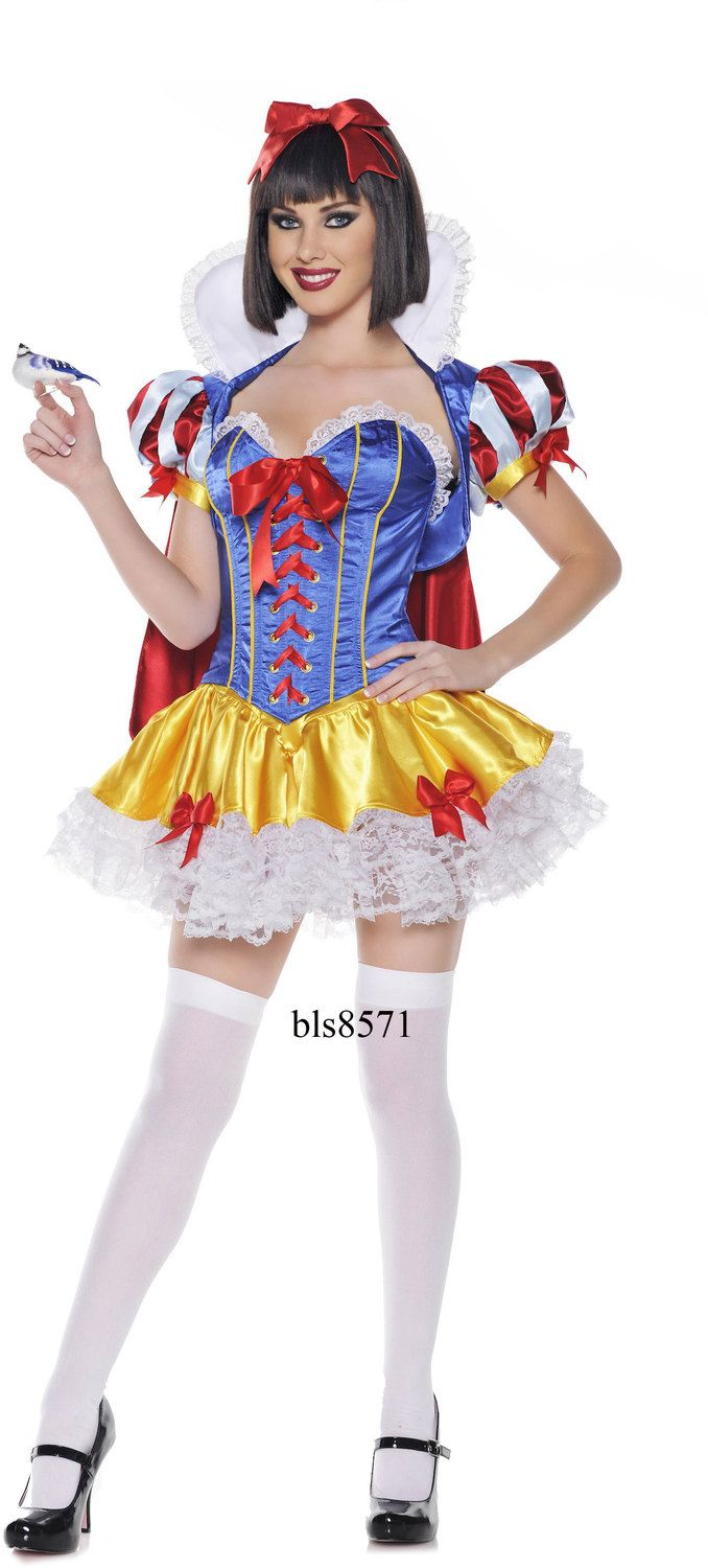 Deluxe Sexy Snow White Costume Corset Fancy Party Dress Halloween ...
