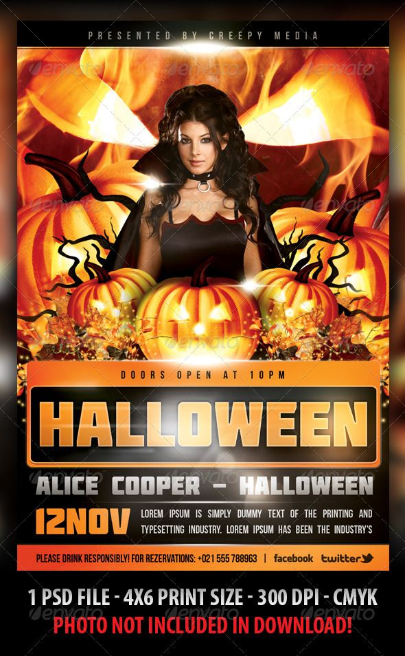Halloween Party Flyer Bundle 2 | Nightlife And Halloween