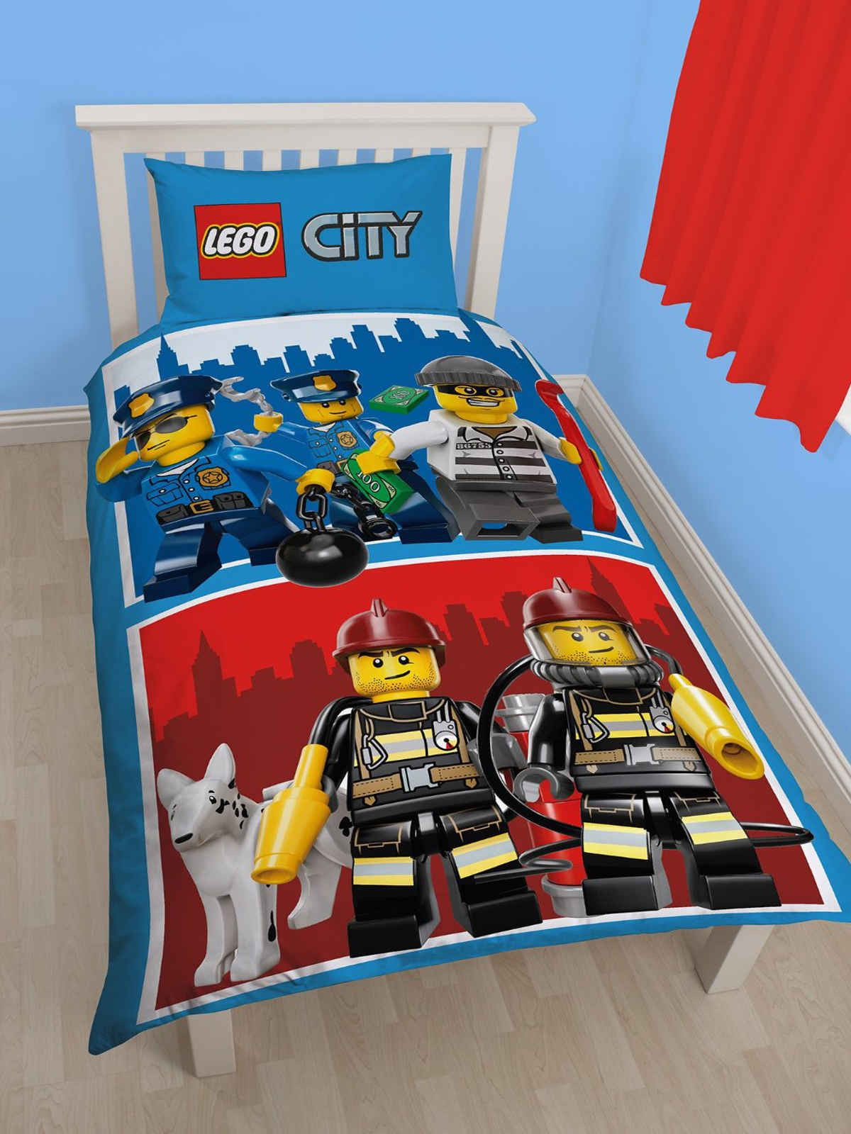Lego City Heroes Single Duvet Cover Set Lego Bedroom