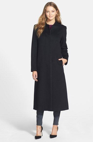 Fleurette Long Collarless Loro Piana Wool Coat (Petite) (Nordstrom Exclusive)…