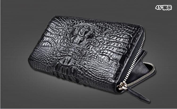 150.00$  Buy here - http://ali13k.worldwells.pw/go.php?t=32515715188 - 100% genuine alligator skin leather wallet crocodile leather skin wallets and purse 150.00$