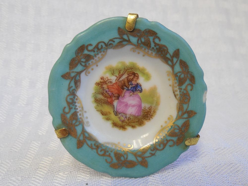 limoges goudeville miniature china plate w courting couple fragonard limoges pinterest. Black Bedroom Furniture Sets. Home Design Ideas