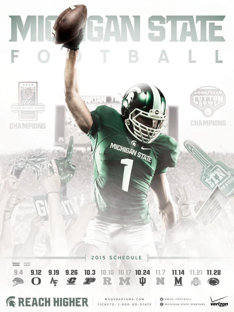 Michigan State Football On Twitter Football Poster Michigan State Football Michigan State