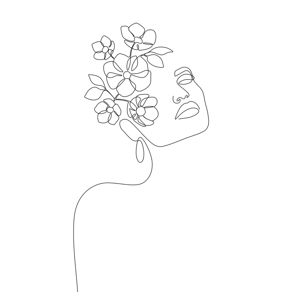 Dreamy Girl Bloom Mini Art Print by explicitdesign