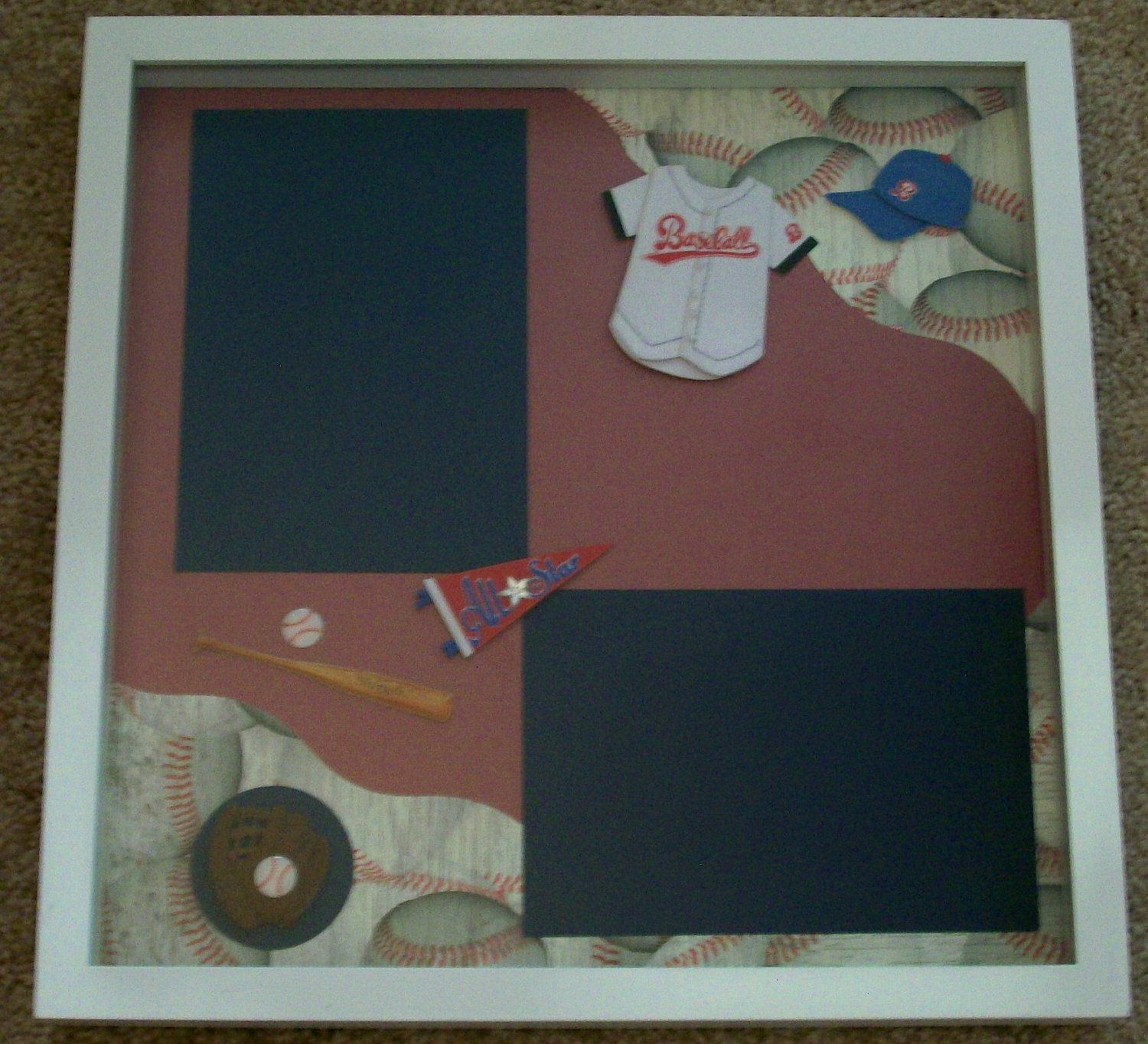 Best 25+ Baseball Shadow Boxes Ideas On Pinterest