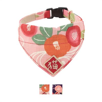 Necoichi Kimono Bandana Cat Collar, Pink in