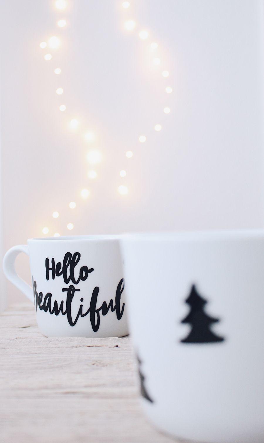 DIY einfache Weihnachtsgeschenke - Individuelle Tassen selber ...
