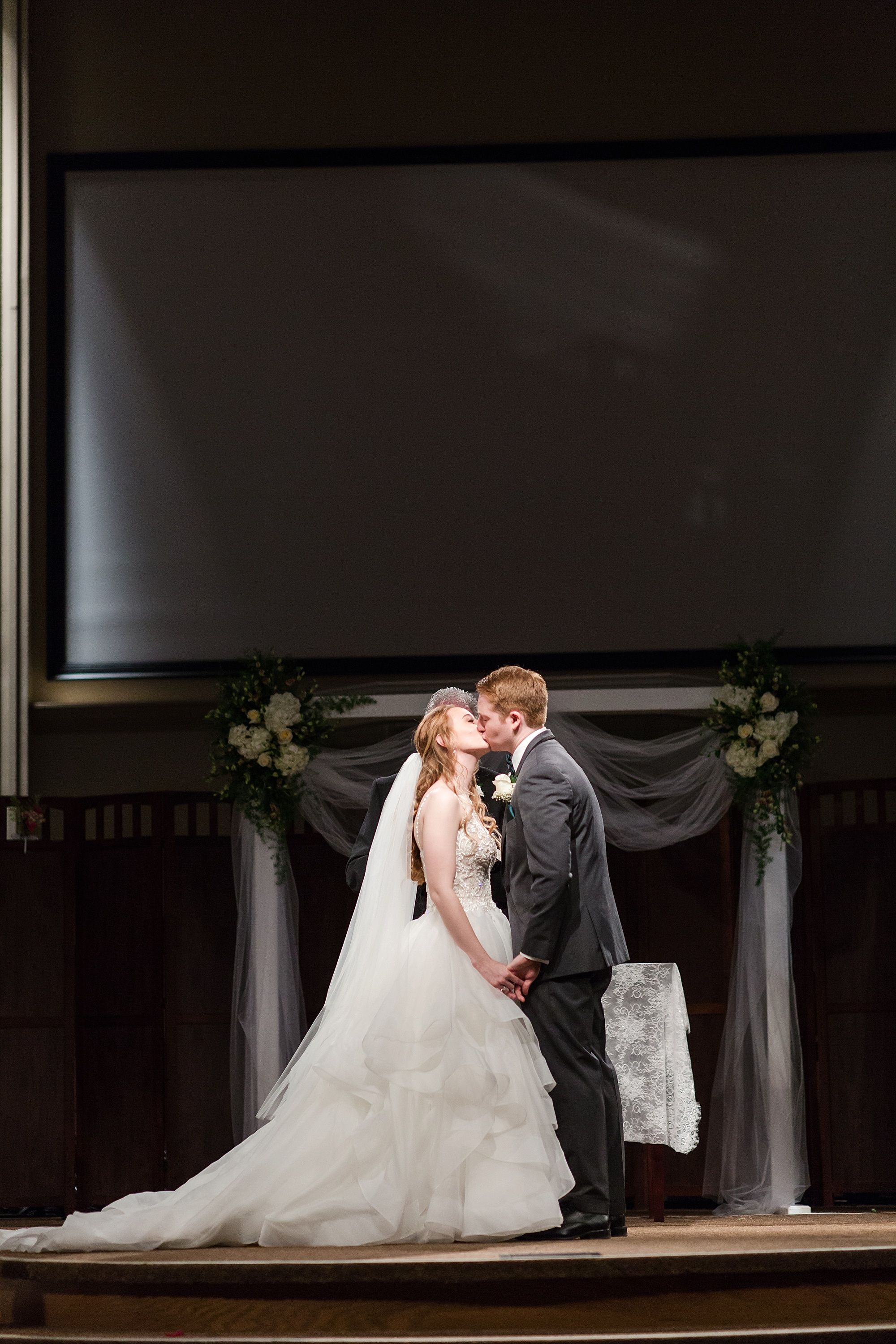 First Kiss In Wedding Ceremony In Church In 2020 Summer Wedding Wedding Wedding Photography Inspiration