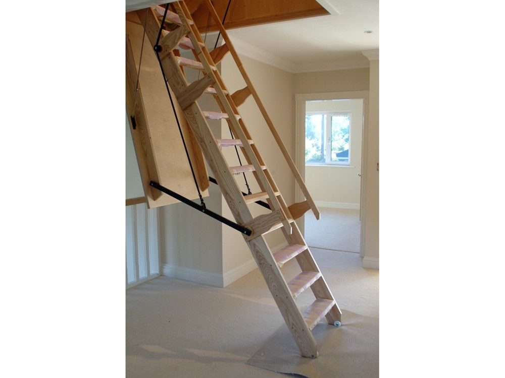 Attrayant Attic Stairs Pull Down Ladder Loft Pull Down Stair Rough Opening