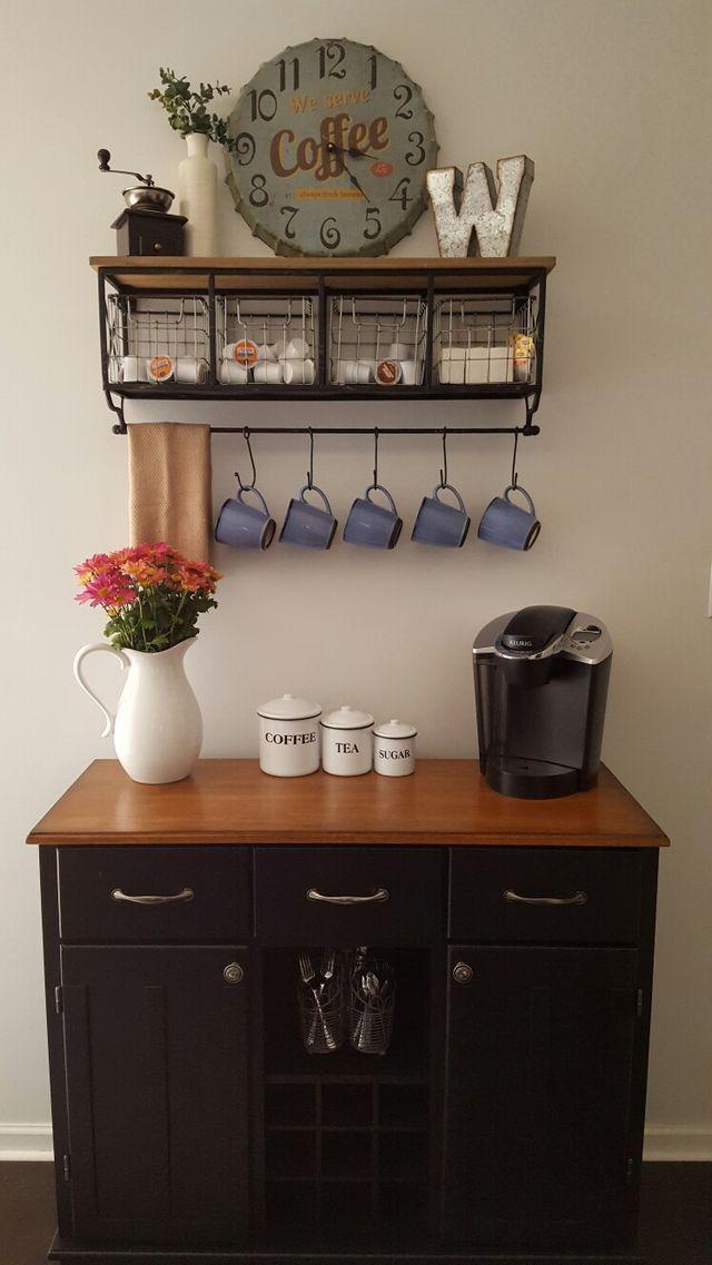 50 DIY Coffee Bar Ideas inside the Home for Coffee ...