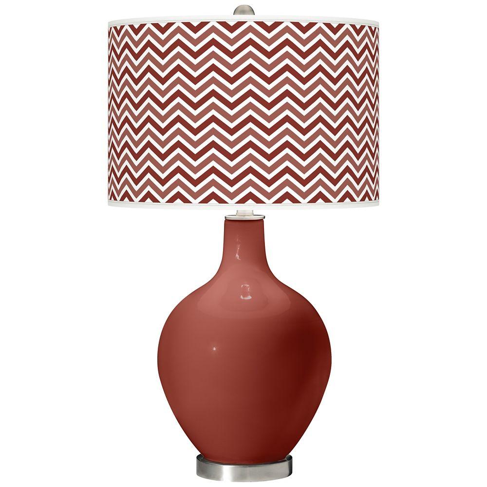 Madeira Narrow Zig Zag Ovo Table Lamp Style X1360