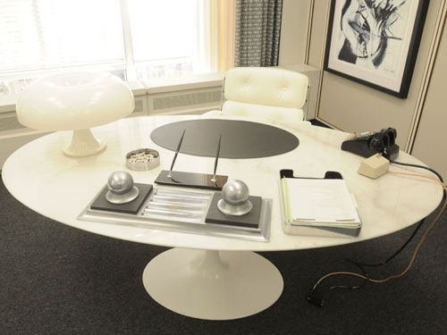 Mad Men Office Decor - Mad Men Set Design - House Beautiful