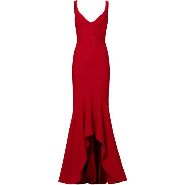 Cinq à Sept Red Sade Gown 30 Liked On Polyvore Featuring