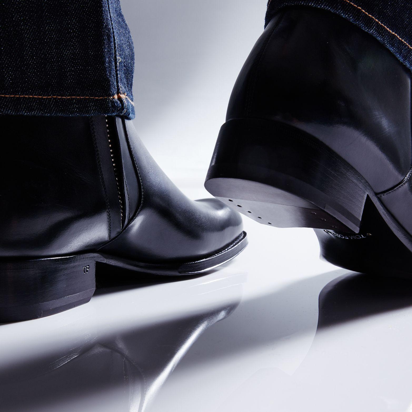 EDGAR LEATHER ZIP BOOT | Boots, Tom
