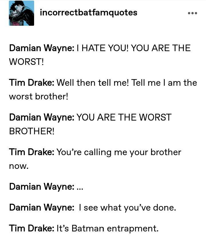 Damian Wayne Tim Drake