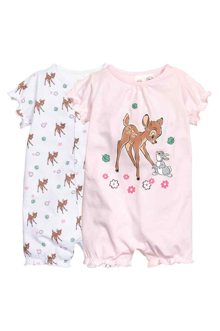 e79f9a25dc 2-pack pyjamas  Two pyjama all-in-ones in soft