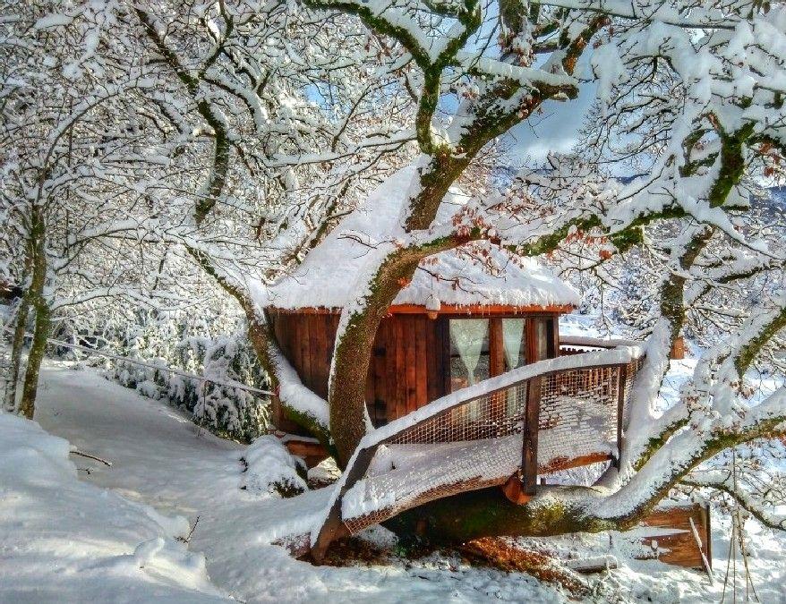7 Cabañas En Los árboles Para Dormir Por Todo Lo Alto Cabañas Casa Del Arbol Cabaña Arbol