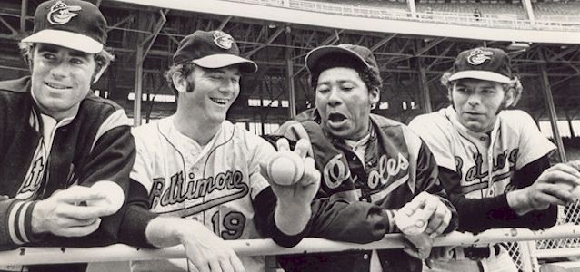 The four 20 game winners in 1971: Jim Palmer, Dave McNally, Mike Cuellar  and Pat Dobson. | Baltimore orioles, Orioles, Orioles baseball