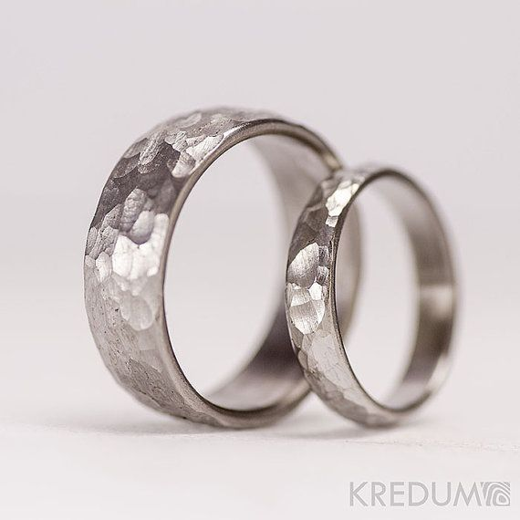 Rough Wedding HANDMADE band womens mens STAINLESS Steel ring male