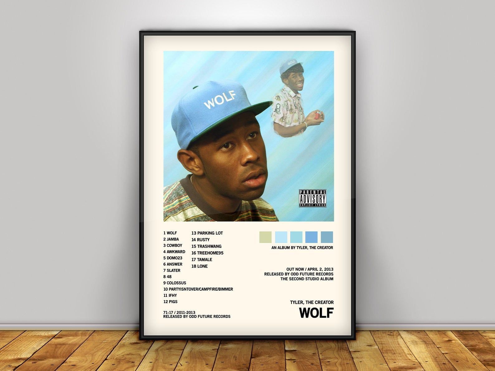 Tyler The Creator / Wolf / Album Cover Poster Poster Print