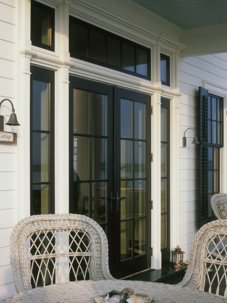 Exterior French Door With Sidelights And Transom Love The