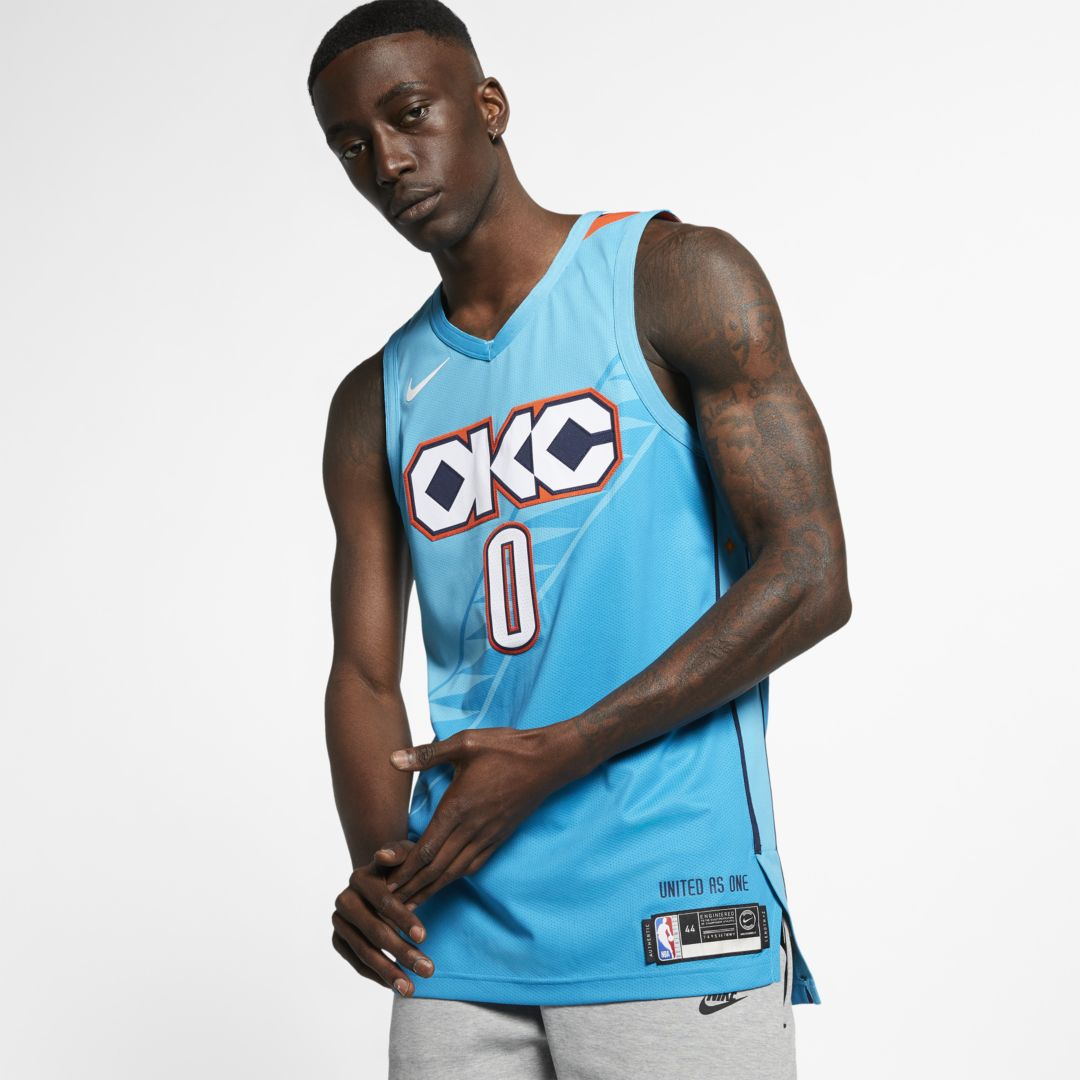 low priced 719e1 5da85 Russell Westbrook City Edition Authentic (Oklahoma City ...