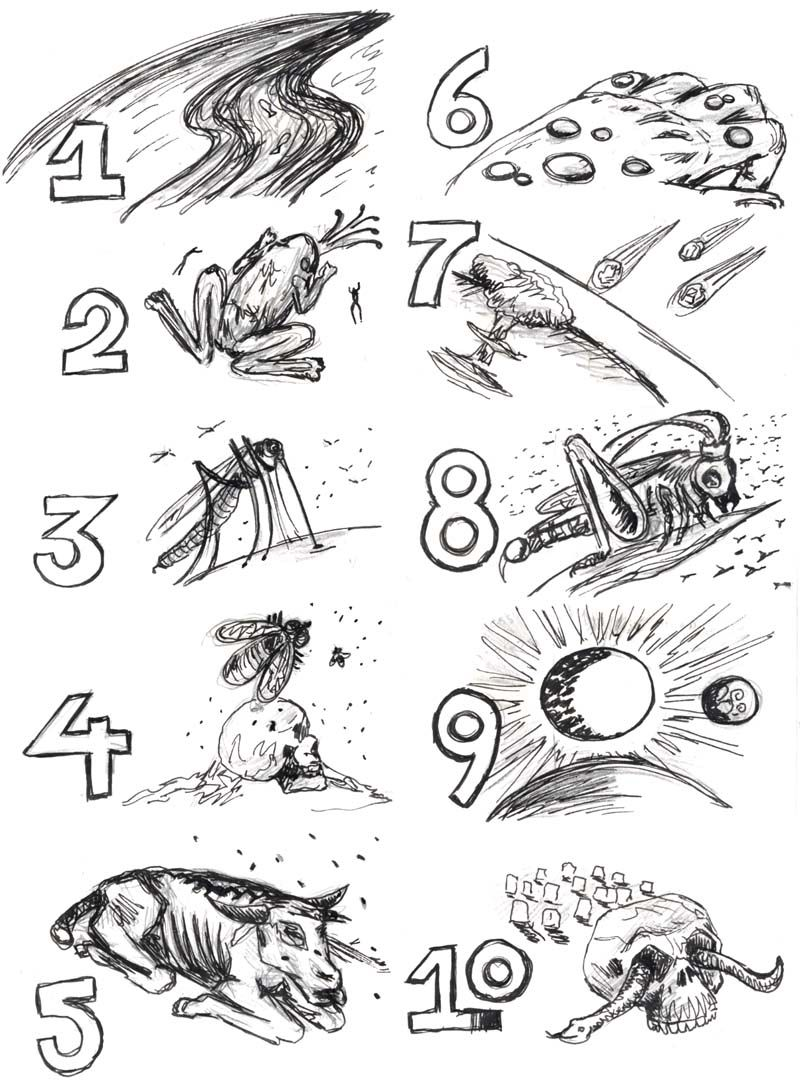 6 of 10 plagues of egypt are mentioned in revelations for 10 plagues coloring pages