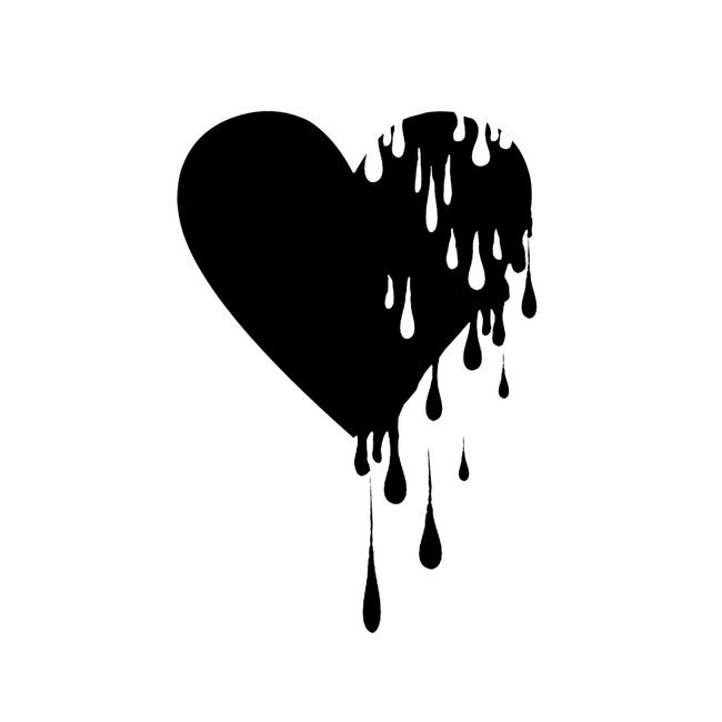 Bleeding Black Heart Sticker By Gringoface Designs White 3 X3 White Heart Tattoos Black Heart Tattoos Simple Heart Tattoos