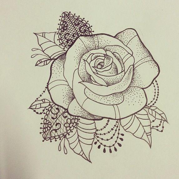 Ac7ed106300bedcc55ee14c850bcaf4b Jpg 573 573 Pixels Lace Rose Tattoos Rose Tattoos Lace Tattoo
