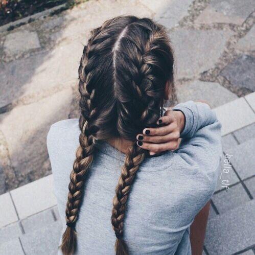 French Braided Pigtails Hair Hair Styles Long Hair