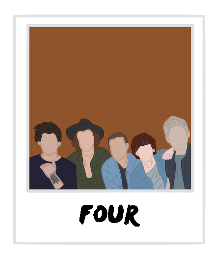 Four Polaroid One Direction Sticker By Andreariv One Direction Drawings One Direction Art One Direction Posters