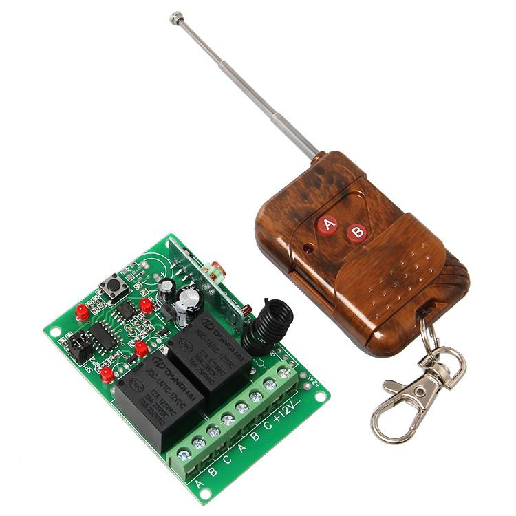 12v 2 Two Channel Wireless Remote Control 2 Relay Module Transmitter Receiver Transmitter Wireless Relay