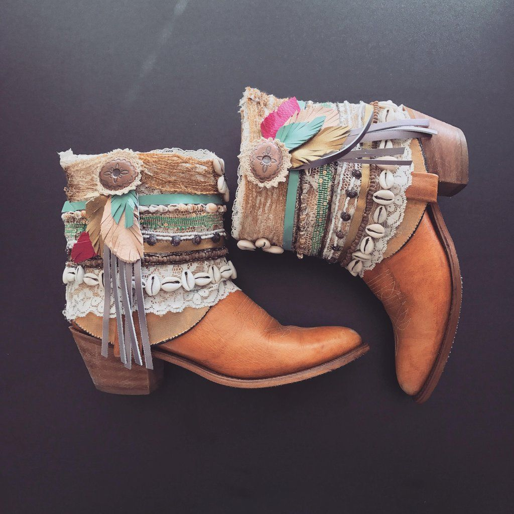 e521d6b54d0 Decorated Cowboy Boots Vintage Boots Boho Festival Boots Custom Made To  Order ALL SIZES