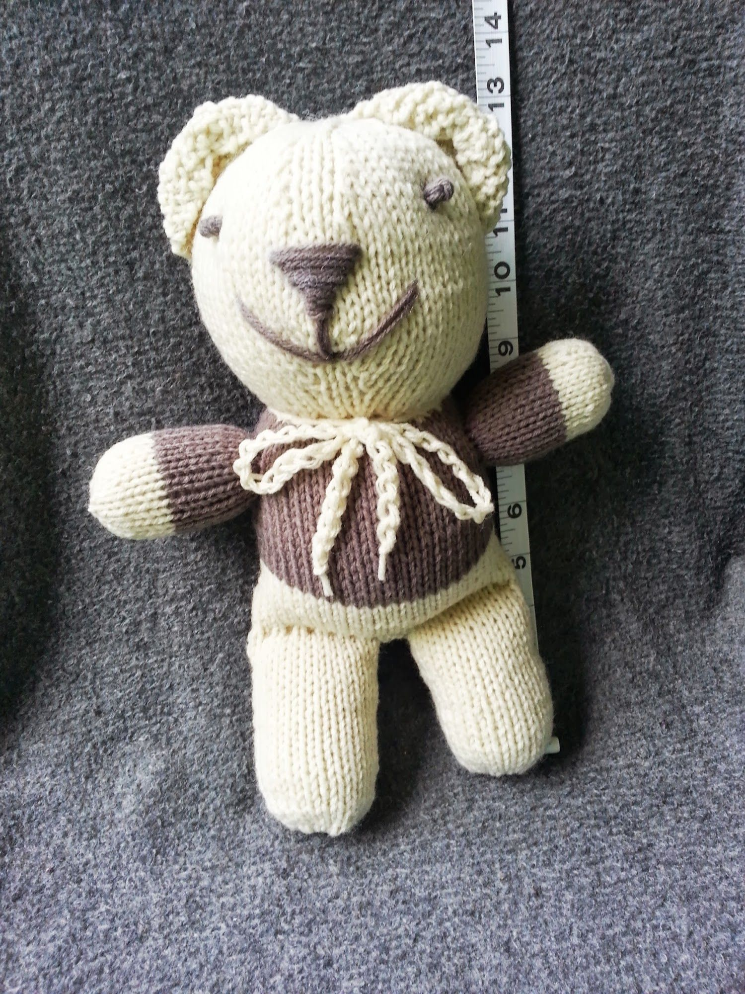Knitting Toys In The Round : Knit in the round teddy bear free pattern knitting