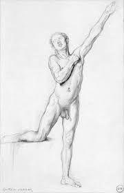 photo de anais nue elle dessine un homme nu comme modele