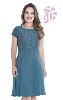 061a4321e VESTIDO DE RENDA 10736 - Clássica Moda Evangélica | O vestido ...