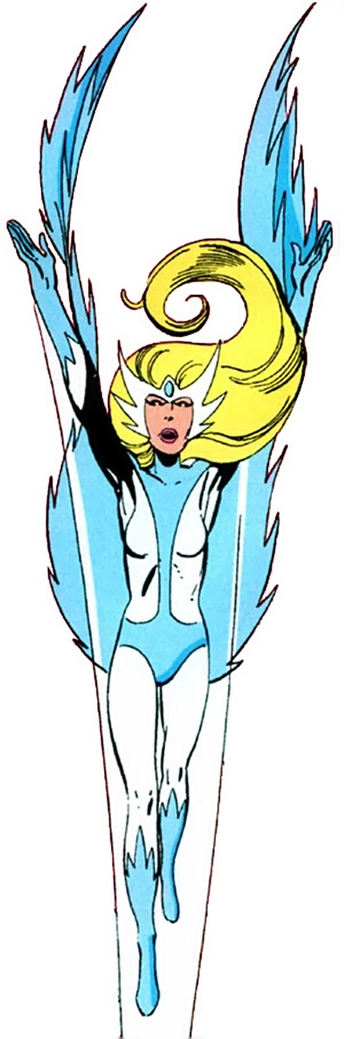 Snowbird (vôo alfa) (Marvel Comics) subindo