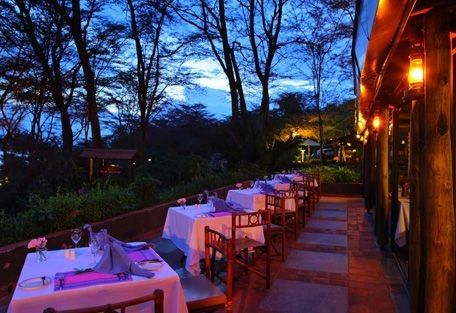 after the afternoon game drive, this looks good for a relaxing gin before dinner overlooking L Nakuru and the evening parade