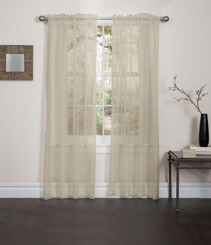 Lisa Sheer Voile Window Curtain Panel 55 X84 1 Panel Panel