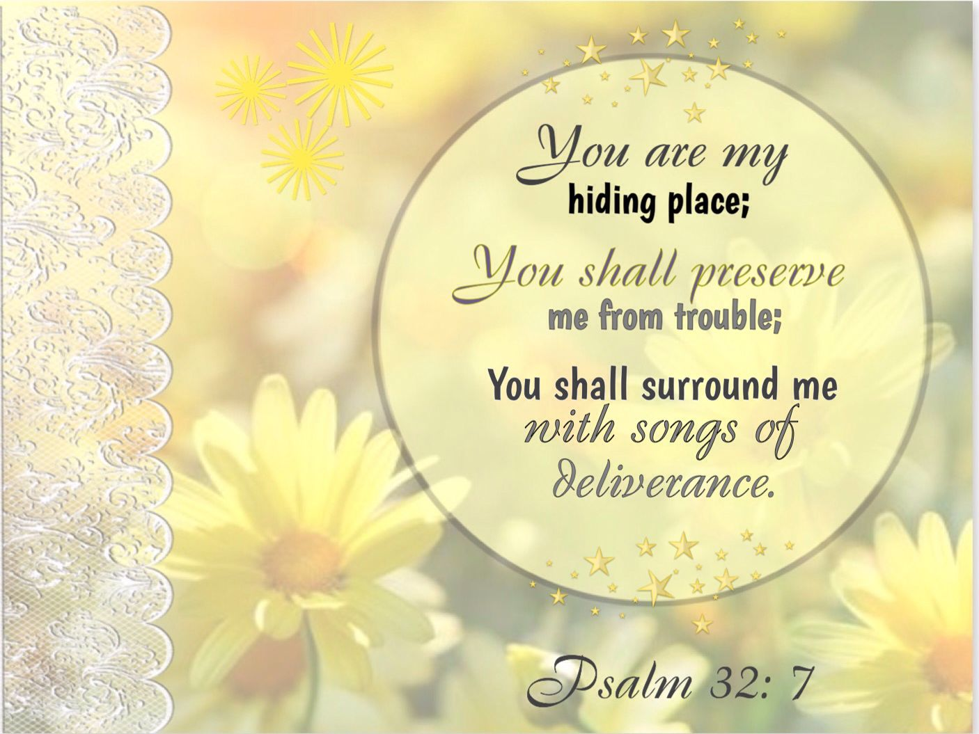 Image result for psalm 32:7-8