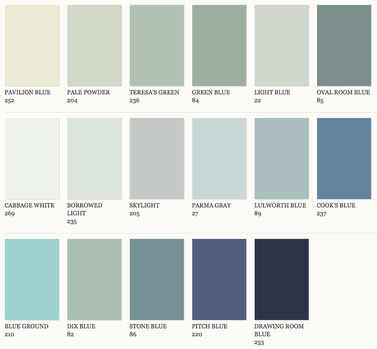 Farrow And Ball Kleurenwaaier.Farrow Ball Kleuren Stylestek Great Color Combinations