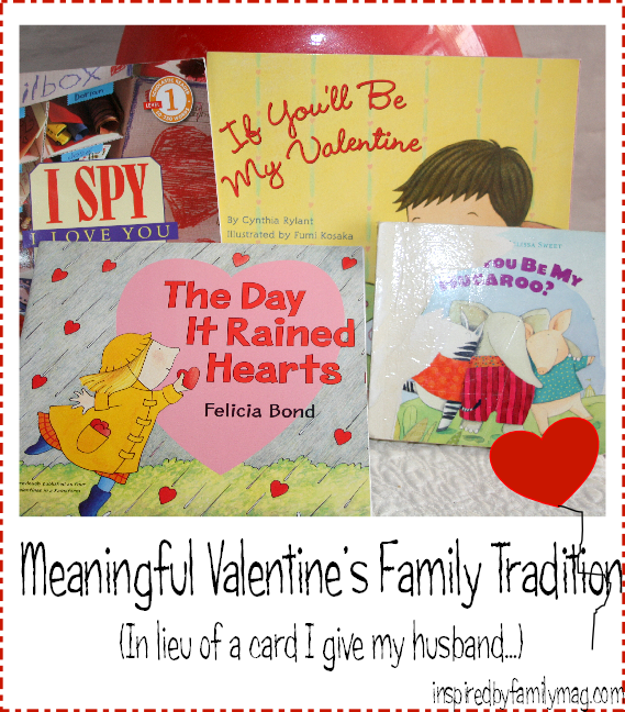 Meaningful Valentine's Day Family Tradition - With this V-day tradition my kids end up with a keepsake of their parents love, a book and your spouse...