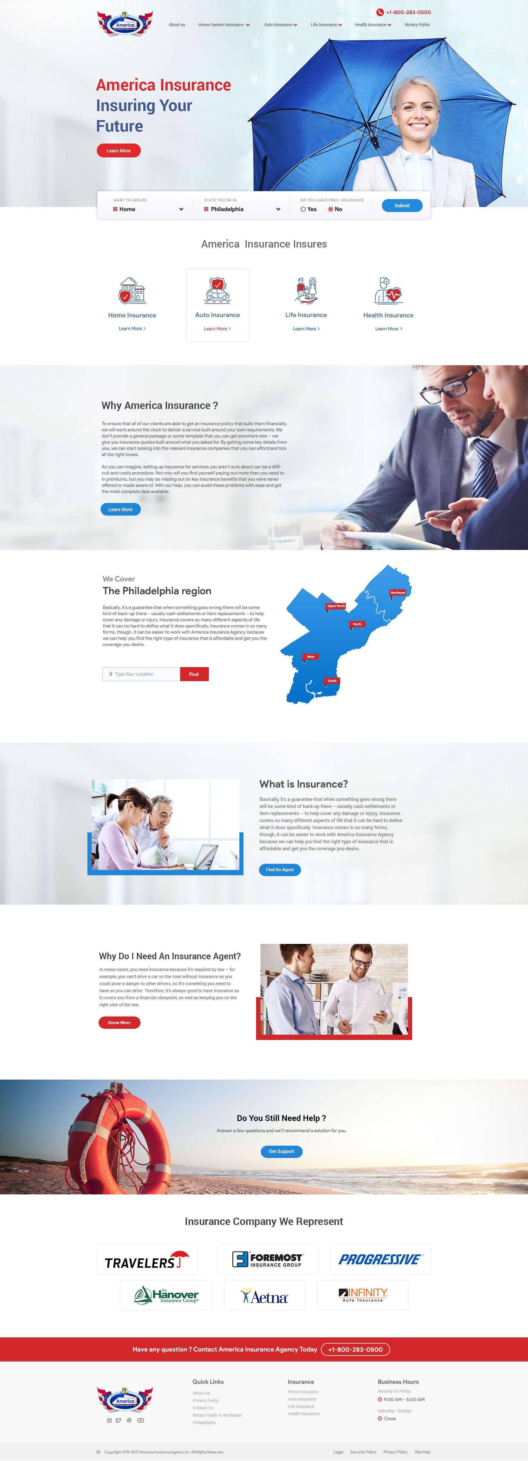 America Insurance Agency V1 Website References Insurance