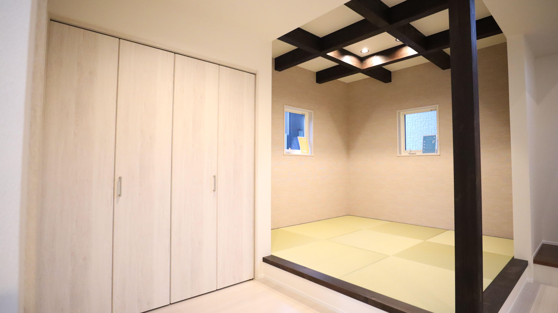 天井の格子状枠組みでおしゃれ和室 和室 おしゃれ