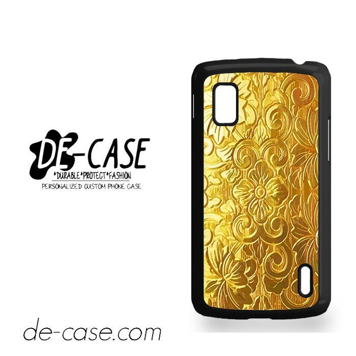 Gold Floral For Google Nexus 4 Case Phone Case Gift Present YO