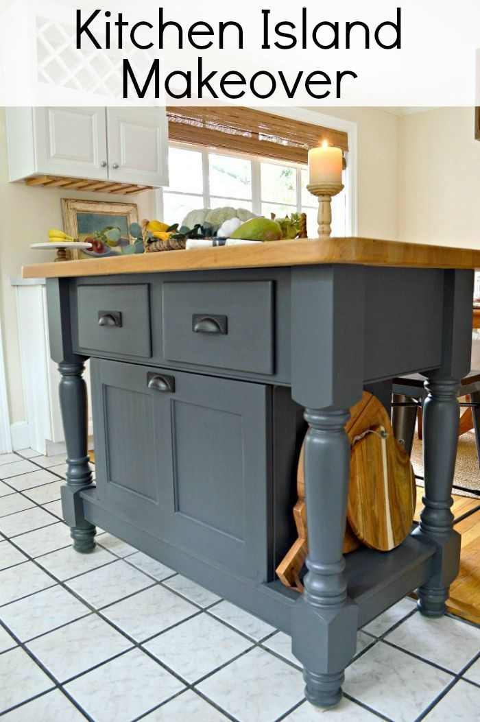 An Easy Diy Kitchen Island Makeover Using Wrought Iron Paint From Benjamin Moore Http Www C Kitchen Island Makeover Grey Kitchen Island Kitchen Inspirations