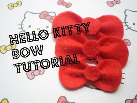 7f939d2f0dfb0 Hello Kitty Bow Tutorial - YouTube